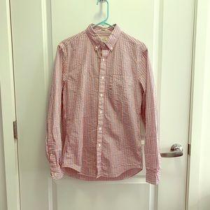 Jcrew men's button down striped shirt size small
